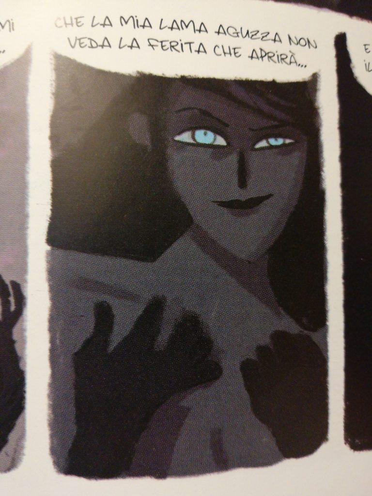 La sensualità di una delle tante rappresentazione di Morgana nell'omonimo grapich novel di Tunuè
