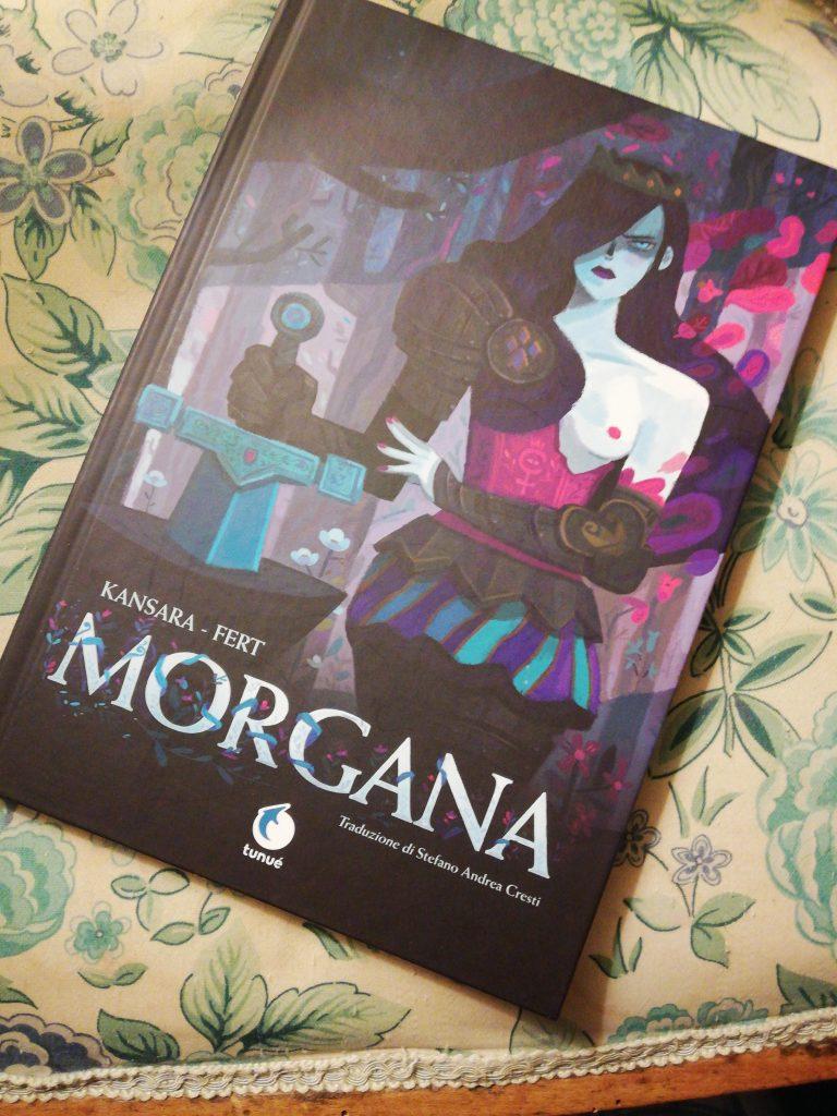 La cover di Morgana, il graphic novel che riscrive la leggenda arturiana